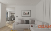 Dnevni prostor z LED stropno osvetlitvijo