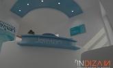 spuščen strop z osvetlitvijo