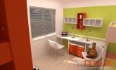 oranžna otroška soba