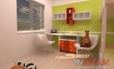 drugačna barvana kombinacija otroške sobe