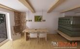 Kmečka soba v moderno zasnovani hiši