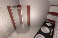 Izris kopalnice v rdeči