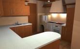 Kuhinja iz masivnega lesa češnje Proles