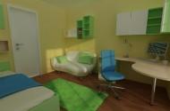 Izris mladinske sobe