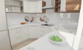 Moderna kuhinja s kančkom domačnosti
